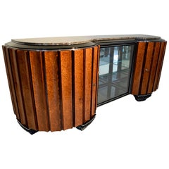 Art Deco Sideboard, Amboyna Root and Rosewood, France/Paris circa 1925