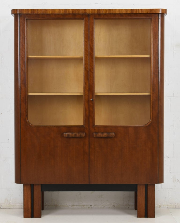 Art Deco Sideboard And Vitrine From 1930 For Sale At 1stdibs