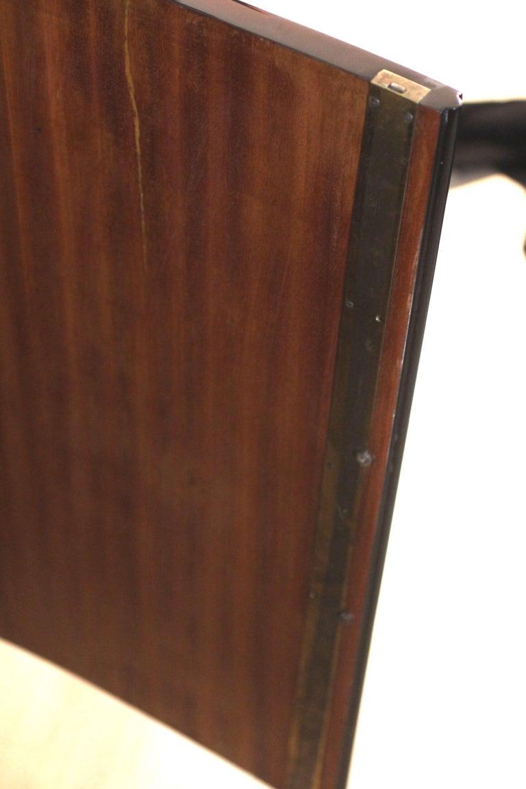 Art Deco Sideboard, Black Lacquer, Mahogany, Chrome, France, circa 1930 For Sale 13