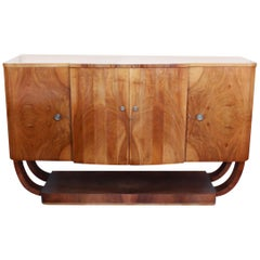Art Deco Sideboard by Harry and Lou Epstein Walnut and Satinwood English 1930's