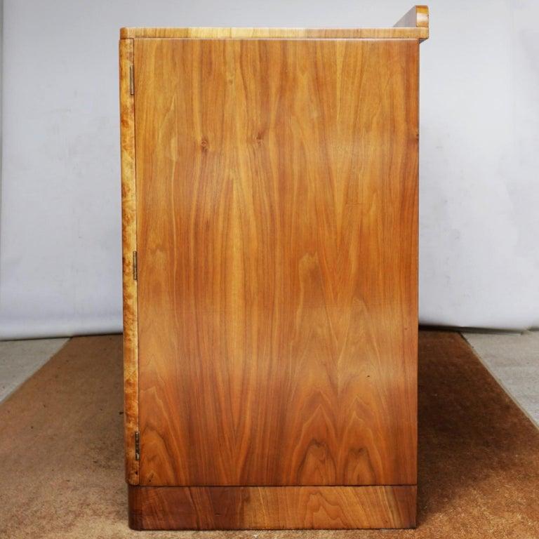 Art Deco Sideboard by Harry & Lou Epstein Burr & Figured Walnut, Circa 1935 For Sale 9
