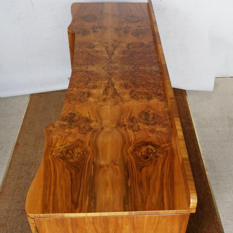 Art Deco Sideboard by Harry & Lou Epstein Burr & Figured Walnut, Circa 1935 For Sale 11