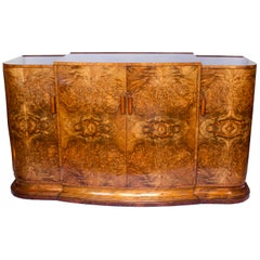 Art Deco Sideboard by Hille Burr Walnut Veneer Original Wooden Handels 1930s