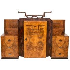 Art Deco Sideboard Credenza Spanish Olive wood and Macassar by Osvaldo Borsani