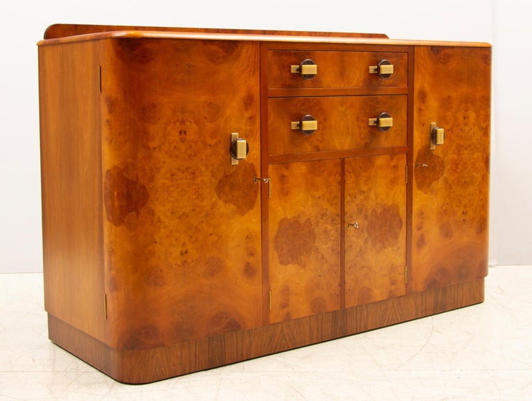Northern Irish Art Deco Sideboard Credenza from Ireland For Sale