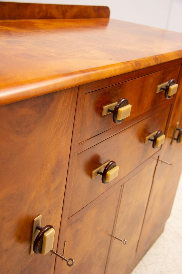 Walnut Art Deco Sideboard Credenza from Ireland For Sale