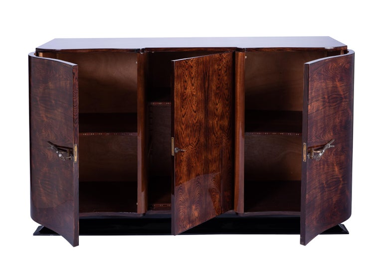 French Art Deco Sideboard Credenza in Palisander For Sale