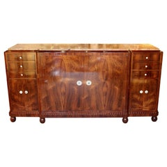 Art Deco Sideboard Designed and Executed by J&M Leleu, Paris, 1930s