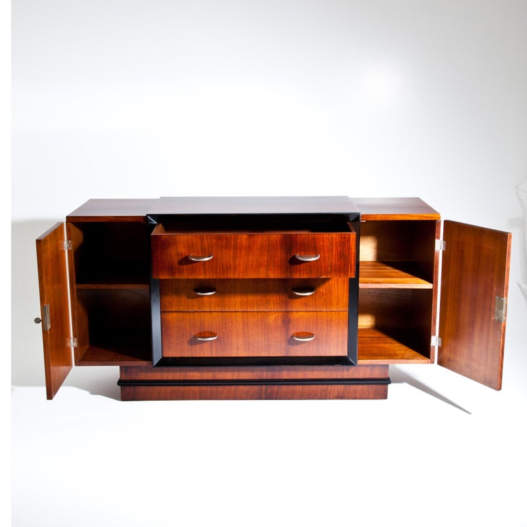 Wood Art Deco Sideboard, France, circa 1940 For Sale