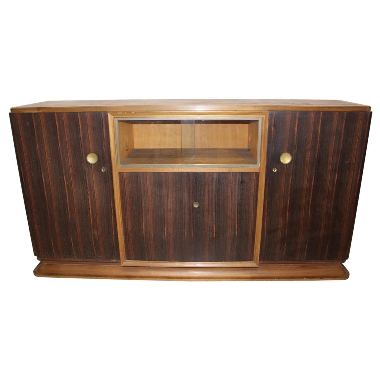 Art Deco Sideboard in Macassar Attributed to Auguste Vallin