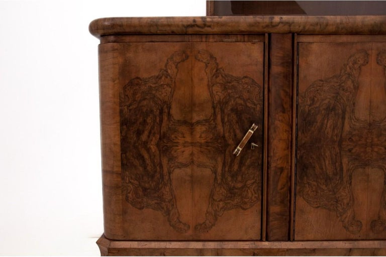 Mid-20th Century Art Deco Sideboard, Poland, 1930s For Sale