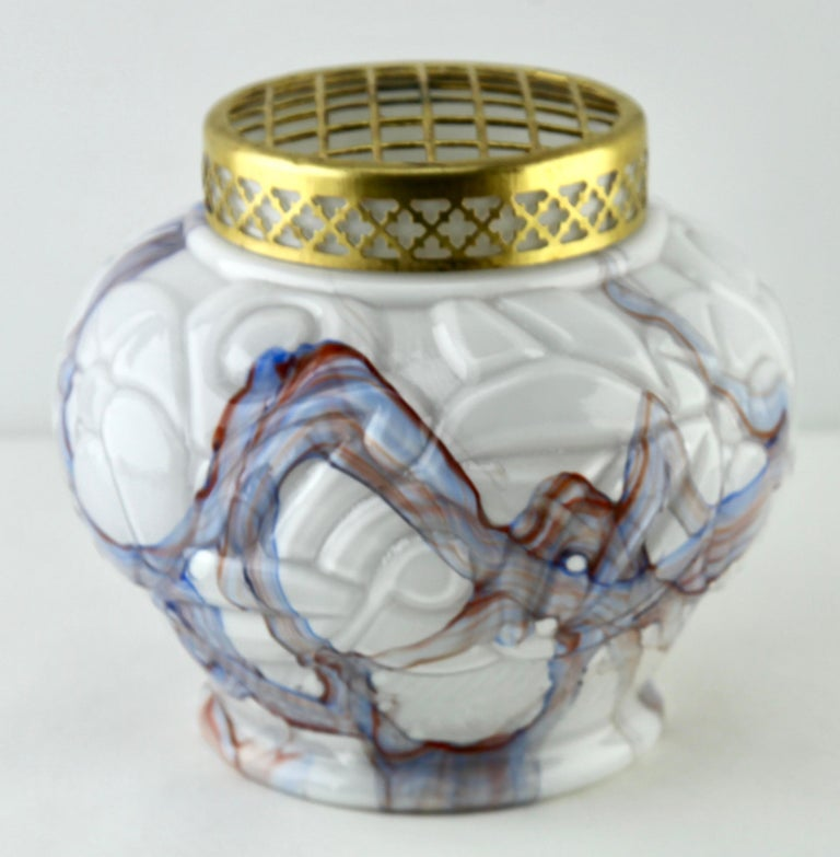 Hand-Crafted Art Deco Signed Scailmont HH Bouquetiers by Henri Heemskerk, 1886-1953 For Sale