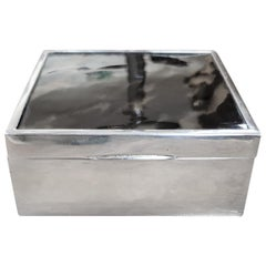 Art Deco Silver Box with Tortoiseshell Lid