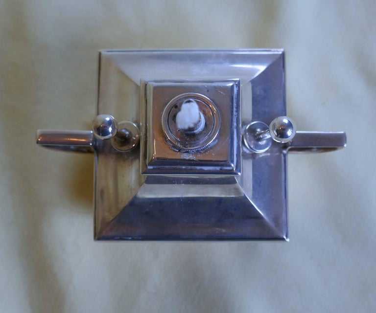 Art Deco silver cigar table lighter