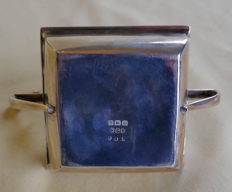 Art Deco Silver Cigar Table Lighter In Good Condition For Sale In ., GB