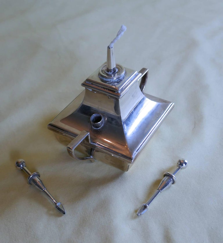 Art Deco Silver Cigar Table Lighter For Sale 2