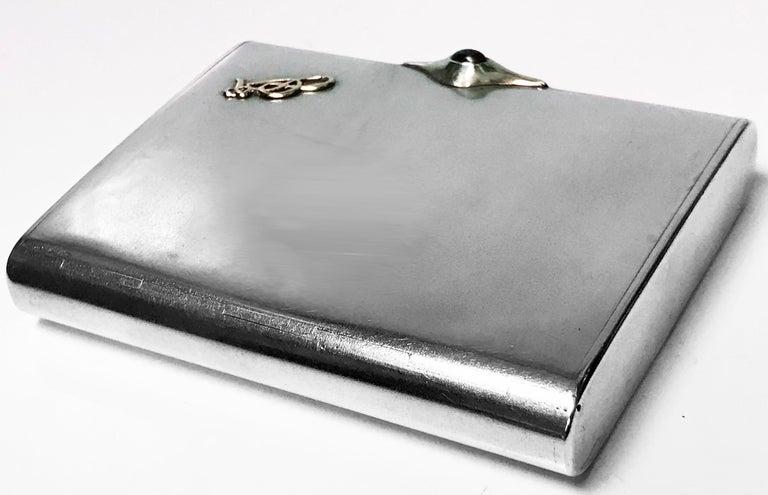 Art Deco Silver Cigarette Case Box, Estonia, circa 1925 For Sale 2
