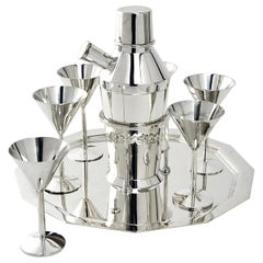 Art Deco Silver Cocktail Set
