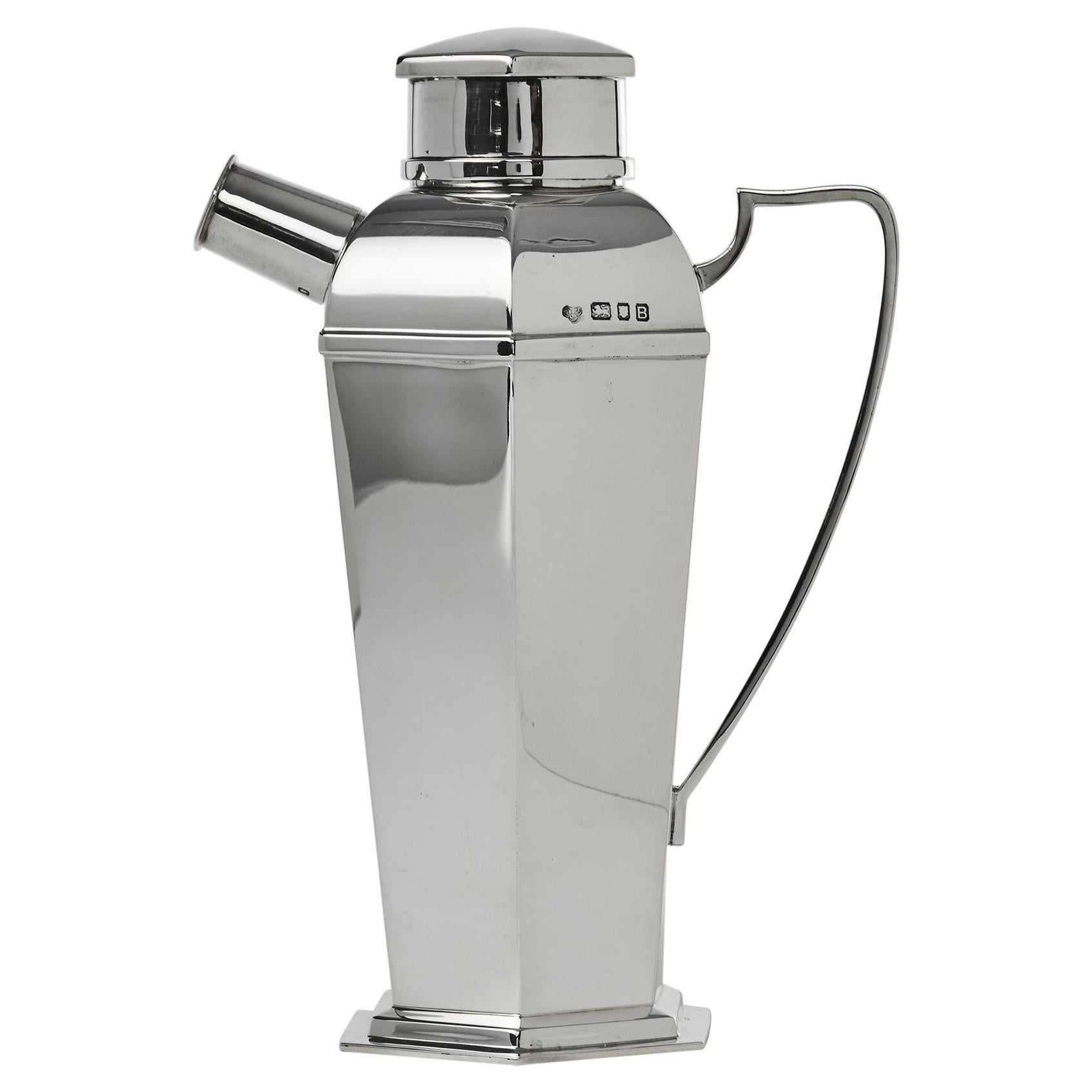Art Deco Silver Cocktail Shaker