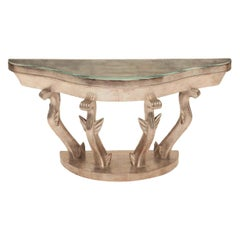 Art Deco Silver Giltwood Console by Anthony R. J. Powell