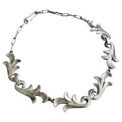 Art Deco Silver Necklace by Rene Delavan