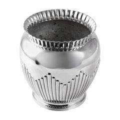 Art Deco Silver Plate Cache Pot
