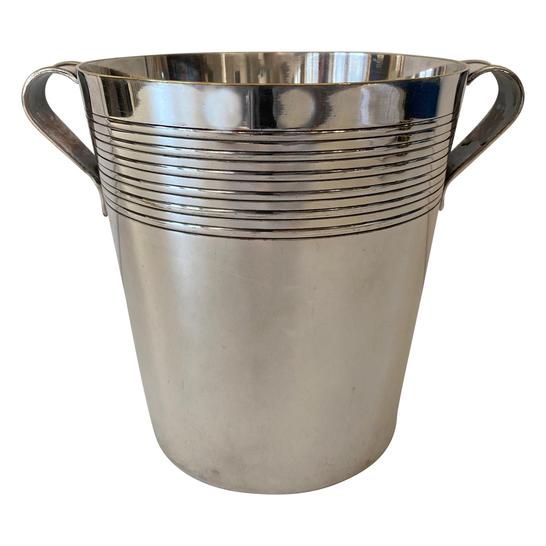 Art Deco Silver Plate Champagne Bucket by E. Potfer