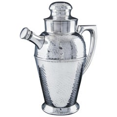 Art Deco Silver Plate Cocktail and Martine Shaker and Pitcher