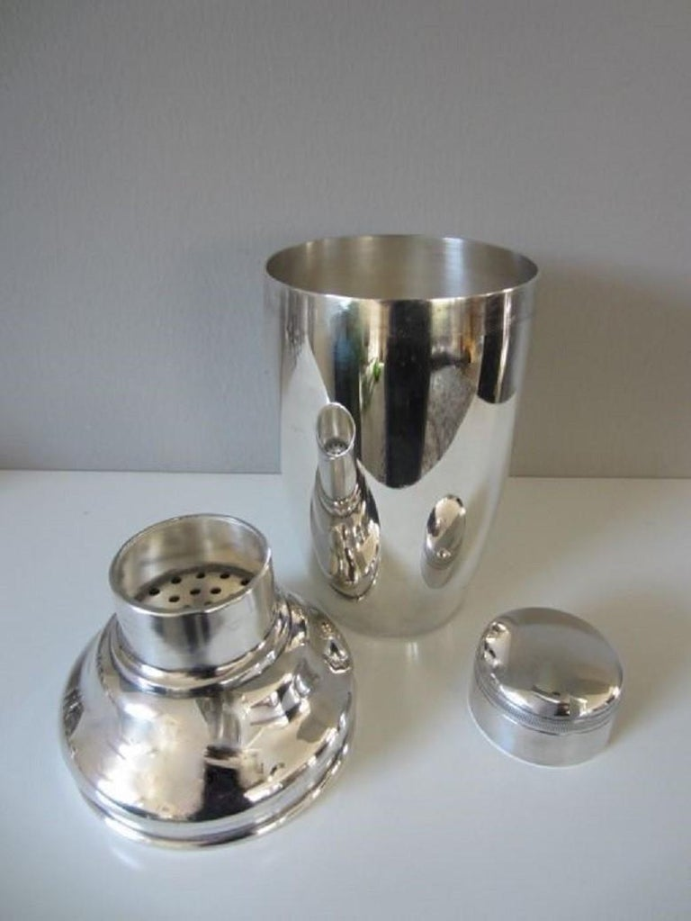 Dutch Art Deco Silver Plate Cocktail Shaker, George Nilsson for Gero, 1927-1933 For Sale