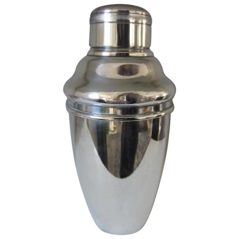 Art Deco Silver Plate Cocktail Shaker, George Nilsson for Gero, 1927-1933 For Sale