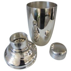 Art Deco Silver Plate Cocktail Shaker, George Nilsson for Gero, 1927-1933
