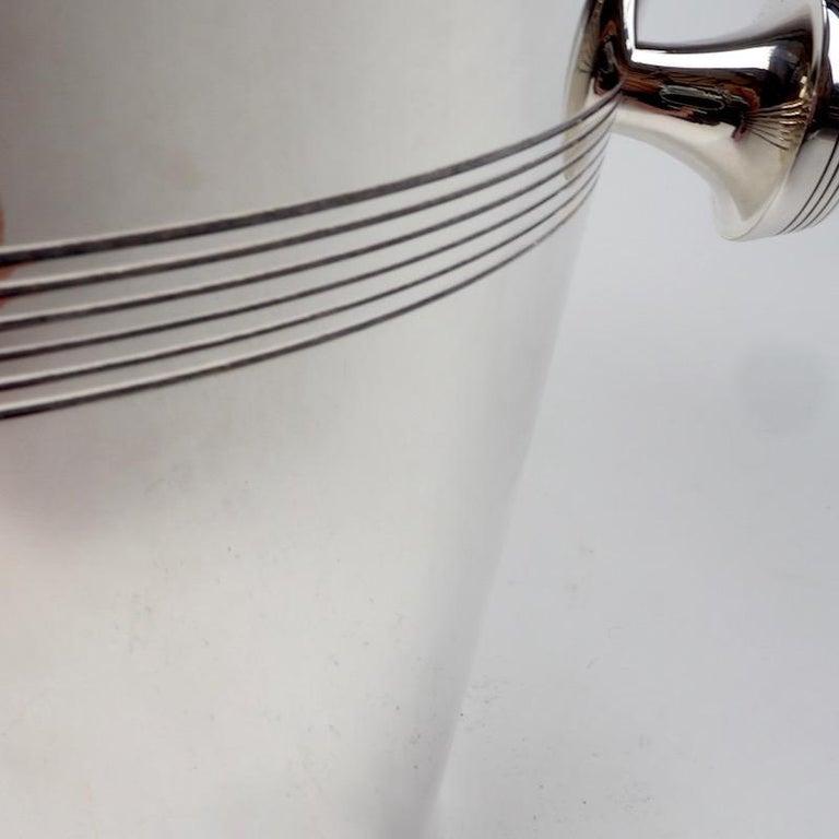 Art Deco Silver Plate Wine Cooler of Elegant Design For Sale 1