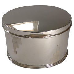 Art Deco Silver Plated Biscuit Box by Mappin and Webb, c.1925