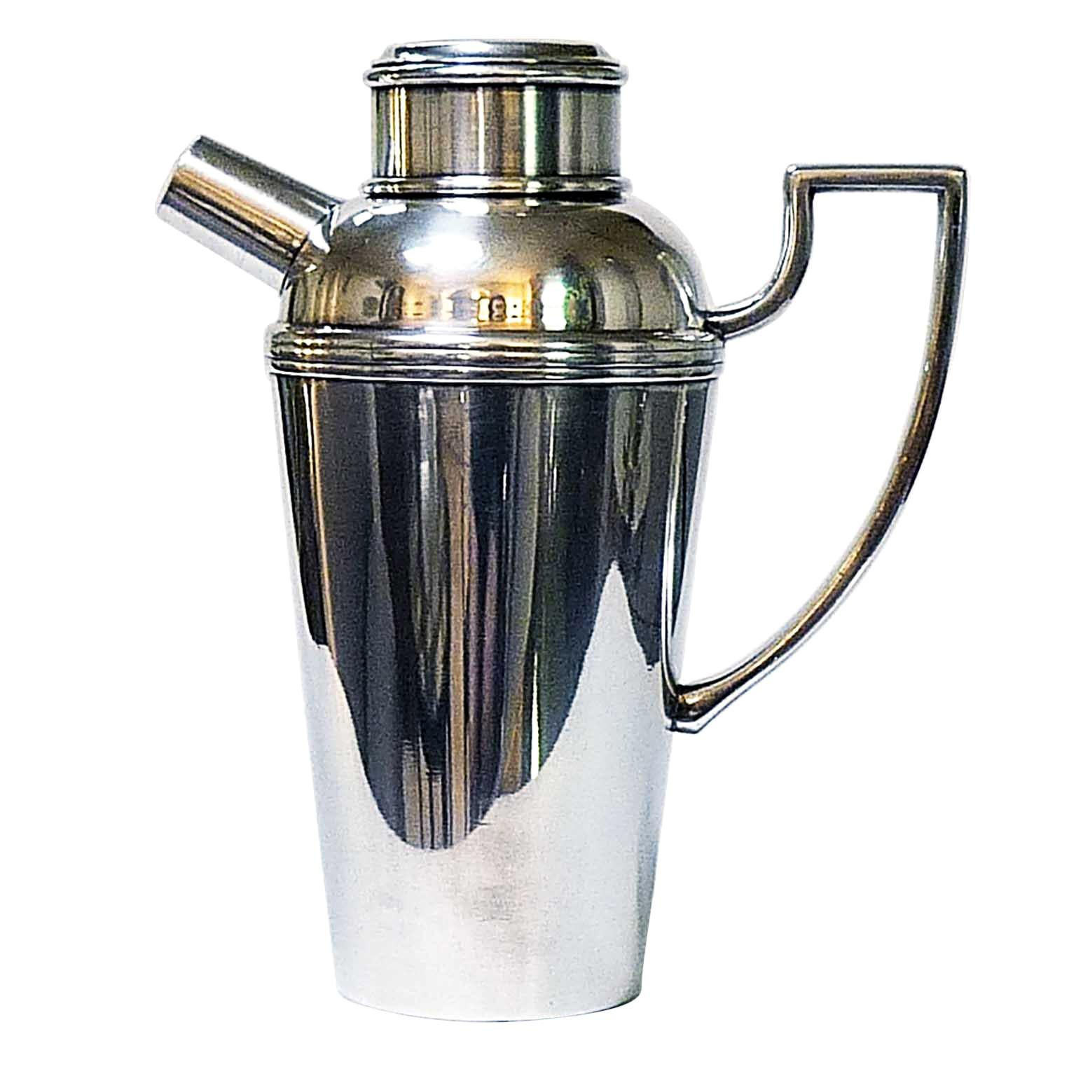 Art Deco Silver Plated Cocktail Shaker by Ercuis
