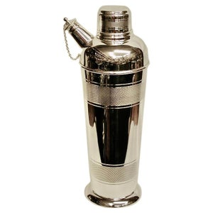 Art Deco Silver Plated Cocktail Shaker, Dated Circa 1930, P H Vogel and Co