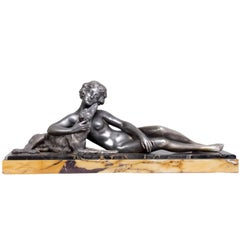 Art Deco Silver Plated Spelter Sculpture