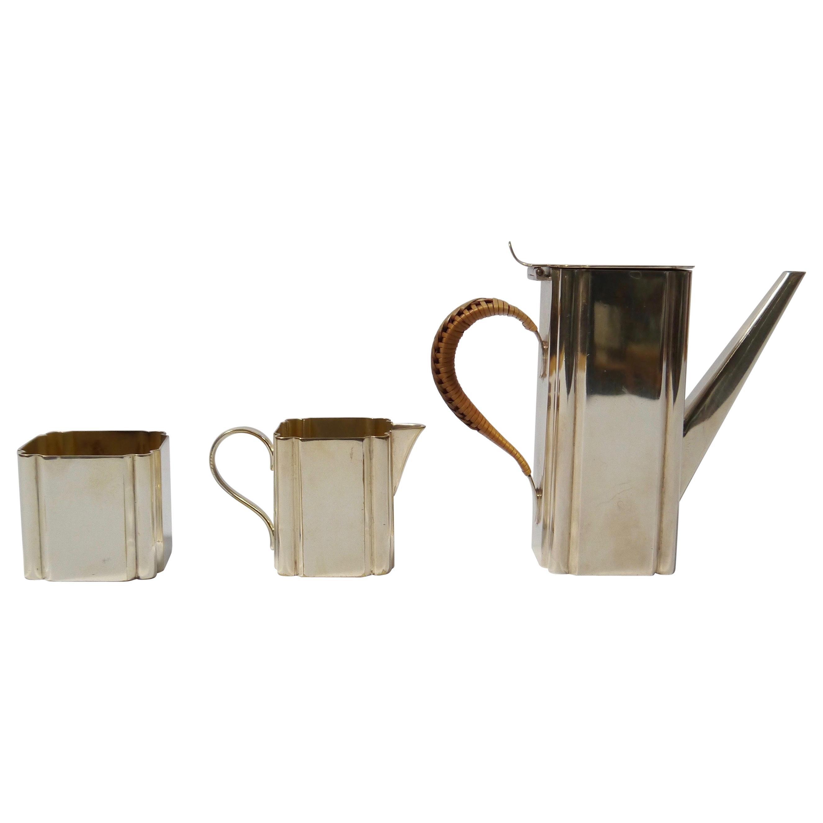 Art Deco Silver Plated Tea Set, Ro No 531588, England, 1930s