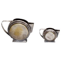 Art Deco Silver Plated Two-Piece Tea Set Mexico