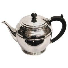 Art Deco Silver Teapot, Dated 1941, Birmingham, Made by William Suckling Ltd.