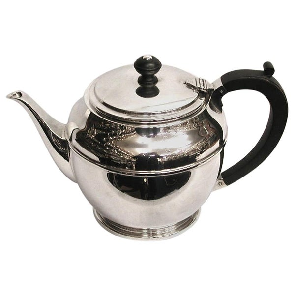 Art Deco Silver Teapot, Dated 1941, Birmingham, Made by William Suckling Ltd.