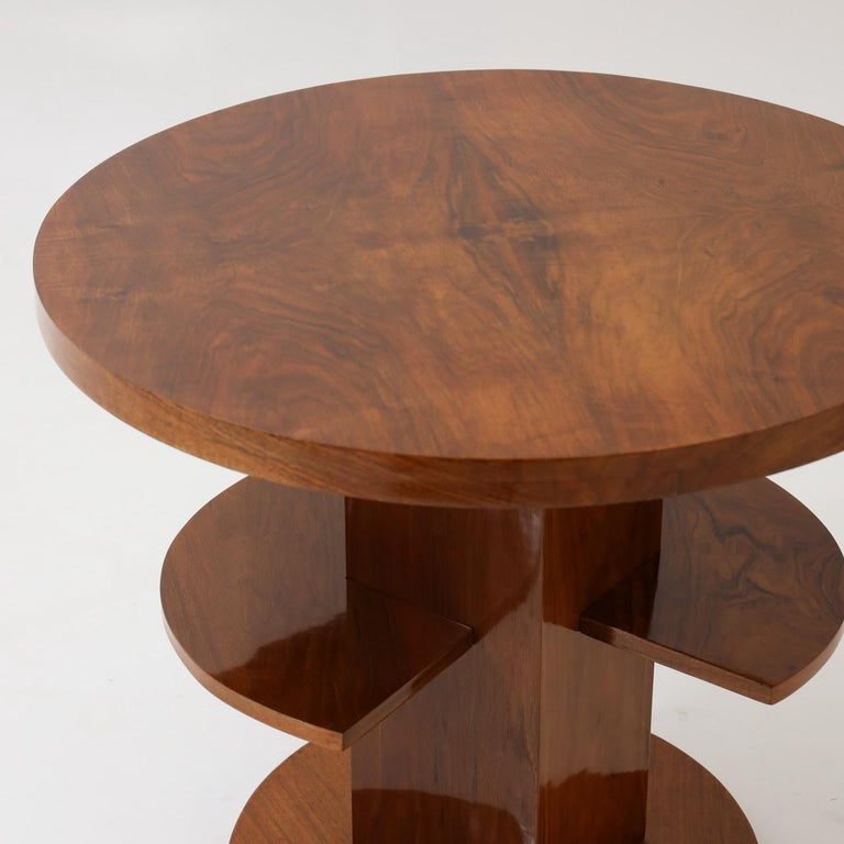 French Art Deco Single Round Side Table For Sale