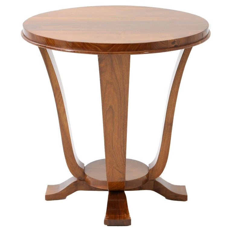 Art Deco Single Round Side Table For Sale