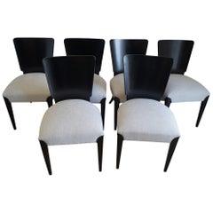 Art Deco Six Chairs J.Halabala from 1950