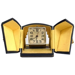Art Deco Skyscraper Chrome Alarm Clock, French, circa 1930