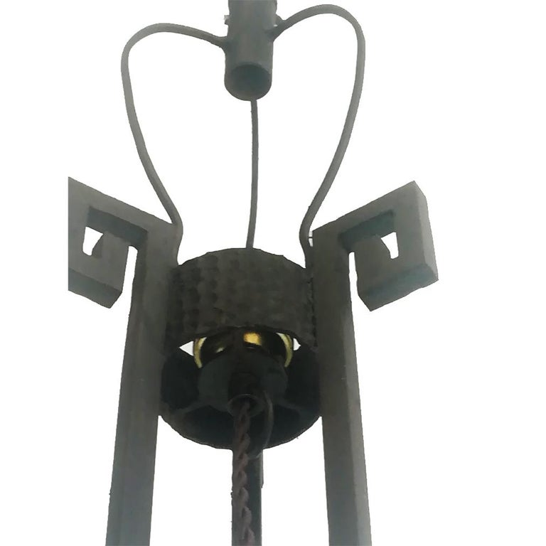 Art Deco Skyscraper Floor Lamp Cast Iron Eiffel Style France Early 20th Century For Sale 14