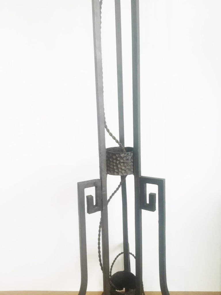 Art Deco Skyscraper Floor Lamp Cast Iron Eiffel Style France Early 20th Century For Sale 15