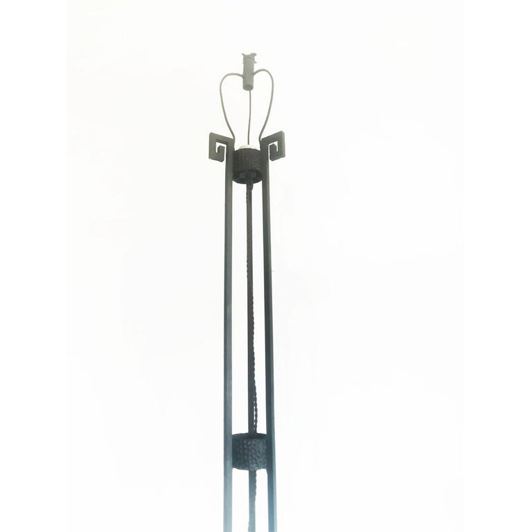Art Deco Skyscraper Floor Lamp Cast Iron Eiffel Style France Early 20th Century For Sale 1
