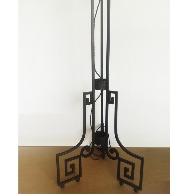 Art Deco Skyscraper Floor Lamp Cast Iron Eiffel Style France Early 20th Century For Sale 3