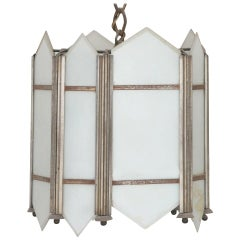 Art Deco Slat Glass Pendant Light