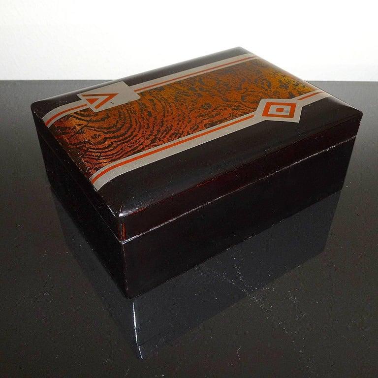 Art Deco Small Lacquered Box, France, circa 1930 In Good Condition For Sale In Bochum, NRW